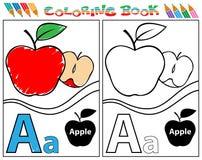 Alfabet kleuring-a Royalty-vrije Stock Afbeeldingen