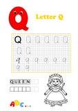 Alfabet, koningin Stock Fotografie