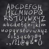 Alfabet in krijt Royalty-vrije Stock Foto's