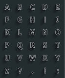 Alfabet lungo dell'ombra Fotografia Stock