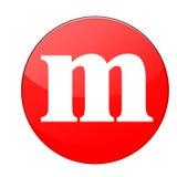 Alfabet m royalty-vrije stock foto