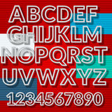 Alfabet med skuggaeffekt Arkivfoto