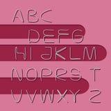 Alfabet met elementenklemmen Stock Afbeelding
