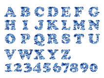 Alfabet militair blauw Stock Afbeelding