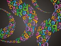 Alfabet-Muster Lizenzfreie Stockfotos