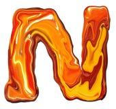 Alfabet N Stock Afbeelding