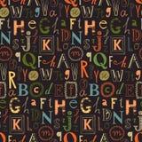 Alfabet Naadloze Achtergrond Royalty-vrije Stock Afbeelding