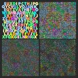Alfabet naadloze patronen Royalty-vrije Stock Afbeeldingen