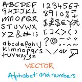 alfabet narysować ręka obraz stock