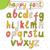 alfabet narysować ręka Wektorowa szczęśliwa chrzcielnica Zdjęcia Royalty Free