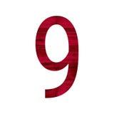 Alfabet nio för nummer 9 Arkivbild