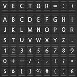 Alfabet, nummer och symboler Arkivbilder