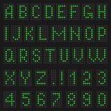 Alfabet och nummer av ljus Arkivbild
