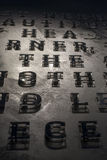 Alfabet på väggen Royaltyfri Fotografi