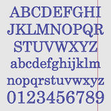 Alfabet på anteckningsbokarket Arkivbilder