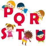 alfabet p u stock illustrationer