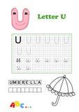 Alfabet, paraplu Stock Afbeelding