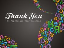 Alfabet pattern thank you we apreciate your business Royalty Free Stock Images
