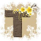 alfabet poślubnika żółty t Zdjęcie Stock