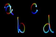 Alfabet produceerde de lichte het schilderen Samenvatting kleurrijk patroon voor achtergrond en ontwerp Stock Afbeelding