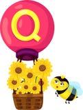 Alfabet Q för drottning royaltyfri illustrationer