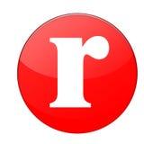 Alfabet R stock illustratie