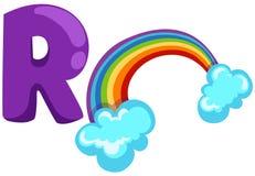 Alfabet R voor regenboog stock illustratie