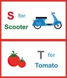 Alfabet S och T Royaltyfri Fotografi
