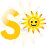 Alfabet S voor zon Stock Afbeeldingen