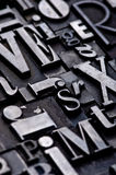 alfabet som är på måfå Royaltyfri Bild