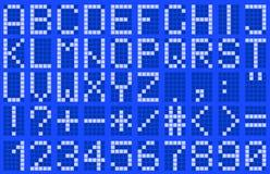 Alfabet som är uppercase Arkivbild