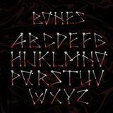 Alfabet som göras av korsade vita ben Royaltyfria Foton