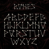 Alfabet som göras av korsade vita ben Bokstäver för alfabet för vit vektorkontur som uppercase formas som ben på Royaltyfri Fotografi