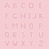 Alfabet som göras från lapp Arkivbilder