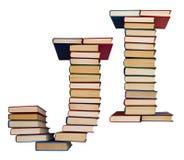 Alfabet som göras ut ur böcker, bokstäver J och I Royaltyfri Fotografi