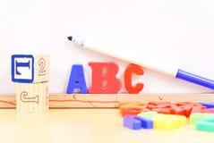 alfabet som lärer Arkivfoto