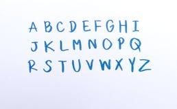 alfabet tecknad hand Royaltyfri Bild