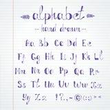 alfabet tecknad hand royaltyfri illustrationer