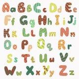 alfabet tecknad hand stock illustrationer