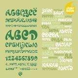 Alfabet uppsättning av bokstäver LIMONCHELLO Arkivfoton