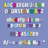 Alfabet uppsättning av bokstavsregnbågen Arkivfoton