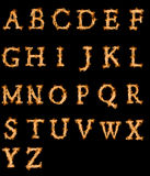 Alfabet van brand Royalty-vrije Stock Afbeelding