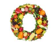 Alfabet van Gezondheid - O Stock Foto