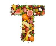 Alfabet van Gezondheid - T royalty-vrije stock afbeelding