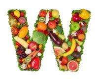 Alfabet van Gezondheid - W royalty-vrije stock foto's