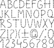 Alfabet van prikkeldraad Stock Afbeelding
