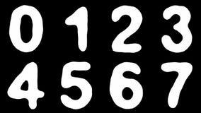 Alfabet van slanghuid op zwarte achtergrond wordt geïsoleerd die stock video