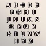 Alfabet vastgesteld ontwerp vector illustratie