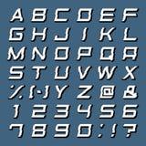 Alfabet vastgestelde vector Royalty-vrije Stock Foto's