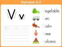 Alfabet Vindend Aantekenvel stock illustratie